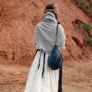 terrier bag<シルク5色(レッド/グレー/BLUE(取手の色2種)/ピンクベージュ>