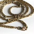 【Christian Dior/クリスチャンディオール】ゴールドトーン ビザンチンチェーン ロングネックレス/ヴィンテージ