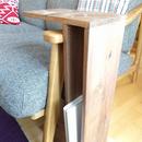 無垢材のサイドテーブル ダブル