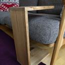無垢材のサイドテーブル シングル