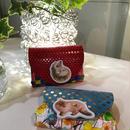 compact wallet animal ~carmine~