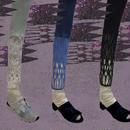 【nonnette】 Combination Leggings NL053R- 3 color