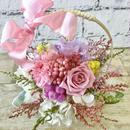 ラッピング無料*色とりどり花かご*プリザーブドフラワー