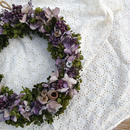 Purple natural wreath