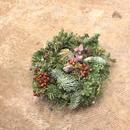 野の花屋 クリスマスオーバルリース