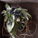 野の花屋 ユーカリと雲竜柳のリース