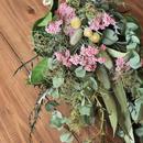 野の花屋  ユーカリとライスフラワーのスワッグ