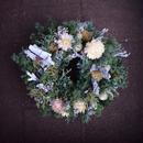 野の花屋 クリスマスリース ホワイトカラー