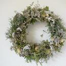 野の花屋 クリスマスホワイトリース