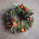 野の花屋  ヘリクリサムのクリスマスリース