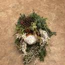 野の花屋 キングプロテアクリスマススワッグ