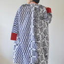 Black&White Yukata Long dress jacket (no.198)