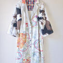 Animal pattern Fur x Kimono Long gown jacket  (no.105)