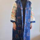 Gorgeous Obi & Blue cotton Kimono Long Jacket (no.270)