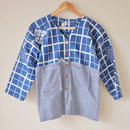 Blue no collar casual shirt (no.067)