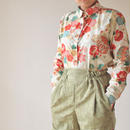 Japanese flower pattern shirt (no.056)