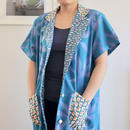 Sky blue cotton half sleeve long Jacket (no.156)