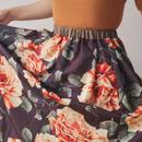 Rose patten vintage kimono skirt (no.023)