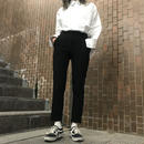 Hem cut slacks pants