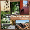 ワールドポストカード Wセット #076-081各2枚