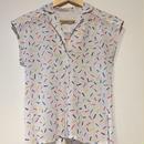 1980's open‐necked shirt white
