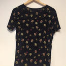 1980's made in USA rose print T-shirts