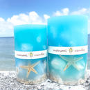 okinawa  sea shell  candle  M