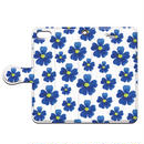 No.INFINITE blue flower by maw 手帳型スマホケース 対応機種(iPhone/アンドロイド機種)