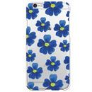 No.INFINITE blue flower by maw クリア ハード ケース(側面部印刷なし) 対応5機種(iPhone機種)