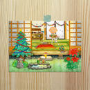 ポストカード (バガスパルプ紙使用)じーさんシリーズ 「じーさんのクリスマス」