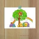ポストカード ひよこシリーズ 「Rainbow」