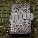 iPhone5/5S/SE ケース 正真正銘本物パイソン(蛇皮革) S0090
