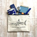 サメポーチ 'Sharks!'/ Canvas pouch 'Sharks!'