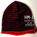 HM-17 10周年記念限定ヘンプスリムボーダーBIGWATCH ブラックxレッド