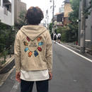 THREE FACE /  ZIP UP PARKA (beige)