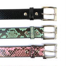 WACKO MARIA / PYTHON LEATHER BELT (green)
