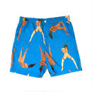 "WACKO MARIA  /  ""女"" HAWAIIAN SHORTS (type-2,blue)"