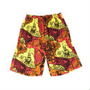 THREE FACE / teach hawaiian short(yellow)