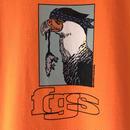 """F-LAGSTUF-F /  """" hawk tee """"  (orange)"""