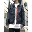 "THREE FACE / "" csf for three face "" DENIM JACKET"