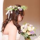 <花嫁必見♪ヘッドリース>花のかんむり ※アーティシャルフラワー