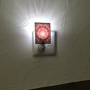 伊勢型紙のナイトランプ【メダリオン】RED【消費税・送料込み】