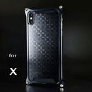 iPhone X アルミ削り出しケース【金運七宝 Shippou】BLACK 【送料無料 税込】