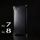 iPhone 8  / 7  アルミ削り出しケース【金運七宝 Shippou】BLACK 【送料無料 税込】