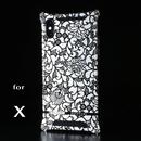 iPhone X アルミ削り出しケース【アラベスク 】BLACK【送料無料 税込】