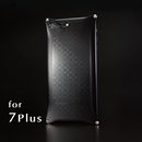 iPhone 7Plus アルミ削り出しケース【金運七宝 Shippou】BLACK 【送料・消費税込み】