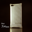 iPhone 7Plus アルミ削り出しケース【金運七宝 Shippou】 シャンパンGOLD【送料・消費税込み】