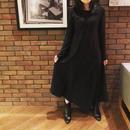 ASYMMETRIC LONG DRESS color:Dark Navy