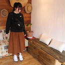 FLARED SKIRT brown