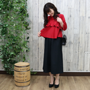 FRILLED  TOP red